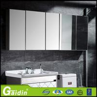 bathroom furniture aluminum material standard aluminum bathroom cabinet with LED light and mirror