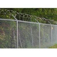 China Chain Link Fence Top With Barbed Wire Or Razor Wire In High Security wholesale
