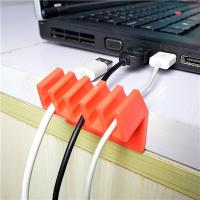China Orange Households Products Cable Drop Clip Plastic Cord Divider For USB Line wholesale