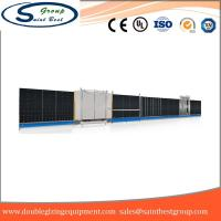 China Curtain Wall Double Glazing Equipment , Insulated Glass Machine With Touch Screen Operation wholesale