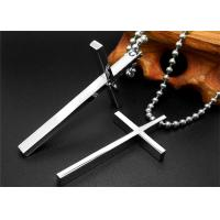 China Religious Stainless Steel Celtic Cross Necklace , Black Chain Necklace For Men wholesale