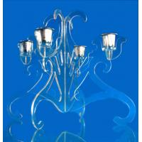 China CH (27) Crystal flower candle holder wholesale