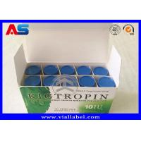 Buy cheap Custom Medication Pill Box For Pharmaceutical Hgh With Plastic Tray and Paper from wholesalers