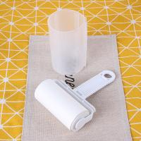 China White Sticky Lint Roller, Paper Used, Efficient Dust / Hair / Fuzz Remover wholesale