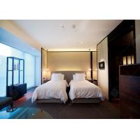 China Comfortable Double Bed Style Hotel Bedroom Furniture Single Bed Size For Sale wholesale