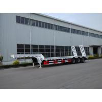 China Customized Low Loader Heavy Duty Trailers , Lowbed Semi Trailer With Landing Gear wholesale