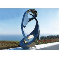 China Public Yin Yang Mirror Stainless Steel Sculpture For Decoration , 180cm Height wholesale