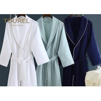 China Customized Size Egyptian White Cotton Bathrobe Towel Fabric Cut Velvet Style wholesale