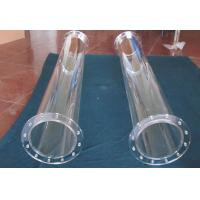 China Solar Reactor Applied Heat Resistant Fused Quartz Glass Tube With Flange wholesale