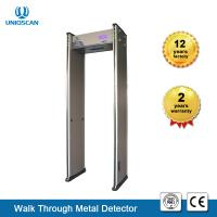 China UNIQSCAN Walk Through Body Scanner Metal Detector Gate For Security Airport Checking High Sensitivity 18 Detecting Zones on sale