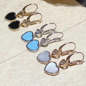 China 18K Gold Chopard Jewelry , Chopard Happy Diamond Heart Earrings With Gems wholesale