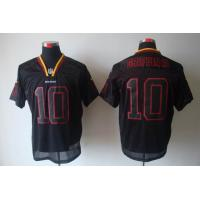 China Nike Washington Redskins 10 Griffin III lights out black elite jersey www.doamazingbusines wholesale