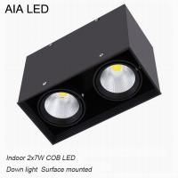 China Inside IP40 square surface mounted 2x7W COB LED downlight for shopping mall wholesale