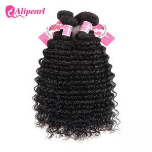 China 3 Pcs Brazilian Human Hair Bundles Deep Wave , Brazilian Remy Hair Extensions wholesale
