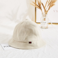 China High Quality Winter Cream Color Unisex Terry Cloth Soft Fabric Bucket Hat Cap wholesale