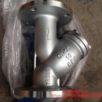 China PN16 RF Stainless Steel Y Type Strainers Flanged with Drain Plug wholesale