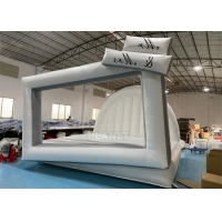 China 0.55mm PVC White Bounce House Inflatable Photo Bouncer Frame Wall wholesale