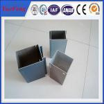 China Aluminium frame price glass curtain wall price, aluminium frame profile wholesale