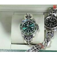 New Arrive Rolex Submariner Green & Black Dial with Chrome Heart 925 Silver Bracelet So co