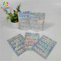 China Holographic Foil Zipper Stand Up Pouch Mylar Bag Custom Print Ziplock Smell Proof wholesale
