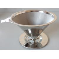 China Conic Food Grade Stainless Steel Basket / Mesh Coffee Filter Eco - Friendly on sale