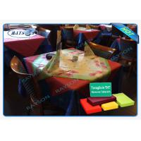 China Full Range Color Disposable Tablecloth Made from PP Non woven fabric with Customized Printing wholesale
