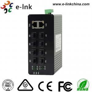 China Unmanaged Optical Industrial Ethernet Switches 8 port 1000Base-FX SFP + 2 port 10/100/1000Base-TX wholesale