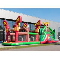 China Reliably Blow Up Obstacle Course 17.0 X 3.6 X 4.7 M Fourfold Stitching wholesale