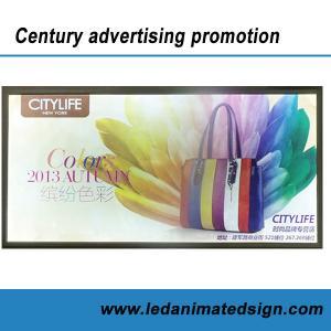 China Led illuminated aluminum frame advertising light box for indoor wholesale