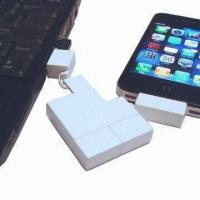 China High-quality 5-plug-in-1 USB Data Transfer/Mobile Charger, Pocket Size, Ideal for iPhone/iPad/iPod wholesale