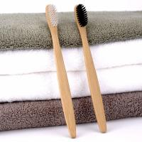 China Luxury Hotel Room Amenities Arc Design Smooth Surface Bamboo Toothbrushes wholesale