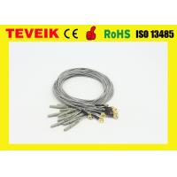 China Gold Plated Copper DIN1.5 Socket 1m Ecg Wire Accessories Gray / Red / Blue wholesale