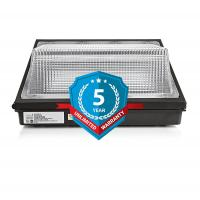 Quality 7200 Lumen 60w Led Wall Pack Lights Commercial Led Lighting 300w Hps / Hid Replacement for sale