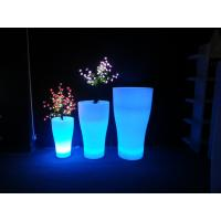 China Water Resistance Flower Garden Patio Decor Led Lighted Flower Pots wholesale