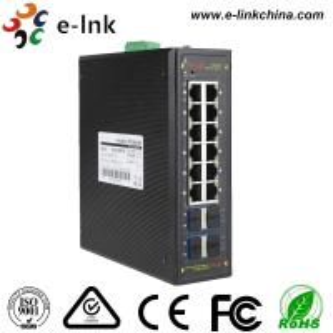 China Managed Ring protocol 8-port 10/100/1000BASE-T + 4-port 10G SFP Ethernet Switch wholesale