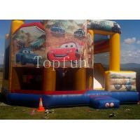 China PVC Racing Car Inflatable Water Jumping Castle 5 x 5m Digital Printing With Slide wholesale