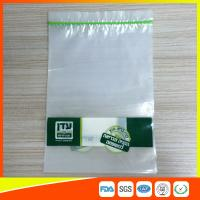 China Disposable Biodegradable Zip Lock Packaging Bags For Household / Industrial Packing wholesale