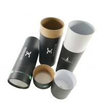 China Round cardboard recycle cylinder kraft carton tube paper packaging tube boxes, paper tube with roll flat lid wholesale