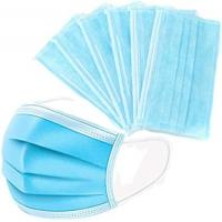 China Fluid Resistant 3 Layer Earloop Face Mask Skin Friendly Non Woven Fabric wholesale