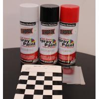 China Weather Resistant Fast Dry Acrylic Spray Paint Black For Leather / Plastic wholesale