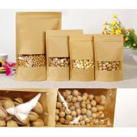 China Customized Paper Bags For Snack Foods , Kraft Paper Bag For Popcorn With Window wholesale
