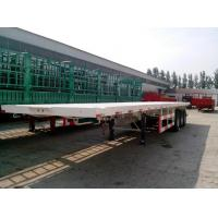China 40 ton semi truck flatbed trailer 12R22.5 tire 12500mm*2500mm*1550mm Dimensions wholesale