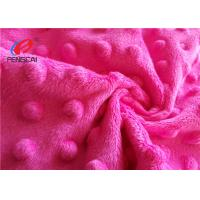 China 100% Polyester Minky Plush Fabric / Minky Dot Blanket Fabric For Making Baby Blankets on sale
