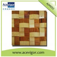 China Solid wood wall tiles mosaic with wavy shape wholesale