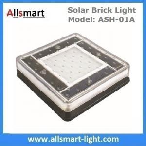 China 6x6 inch Solar Paver Lights Patio Solar Brick Lights Garden Landscaping Solar Underground Inground Lights wholesale