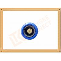 China Blue Plastic Female Push Pull Circular Connectors / 10 Pin Circular Connector wholesale