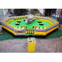 China Meltdown Mechanical 8m Dia Total Wipeout Inflatable For Rotating Obstacles Games wholesale