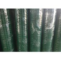 China Green Hole PVC Wire Mesh Fence Panels Spot Welding For Highway / Warehouse on sale