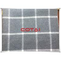 China Tartan Vertical Stripe Wool Cashmere Coating Fabric With White Line Double Faced wholesale