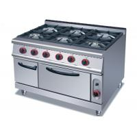 China Security Cooking Lines Free Standing Gas Range With 3 / 4 / 6 European Burners wholesale